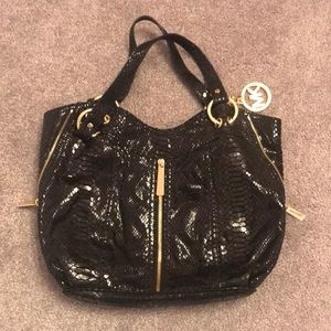Authentic Micheal Kors Black Sequins Shoulder Bag